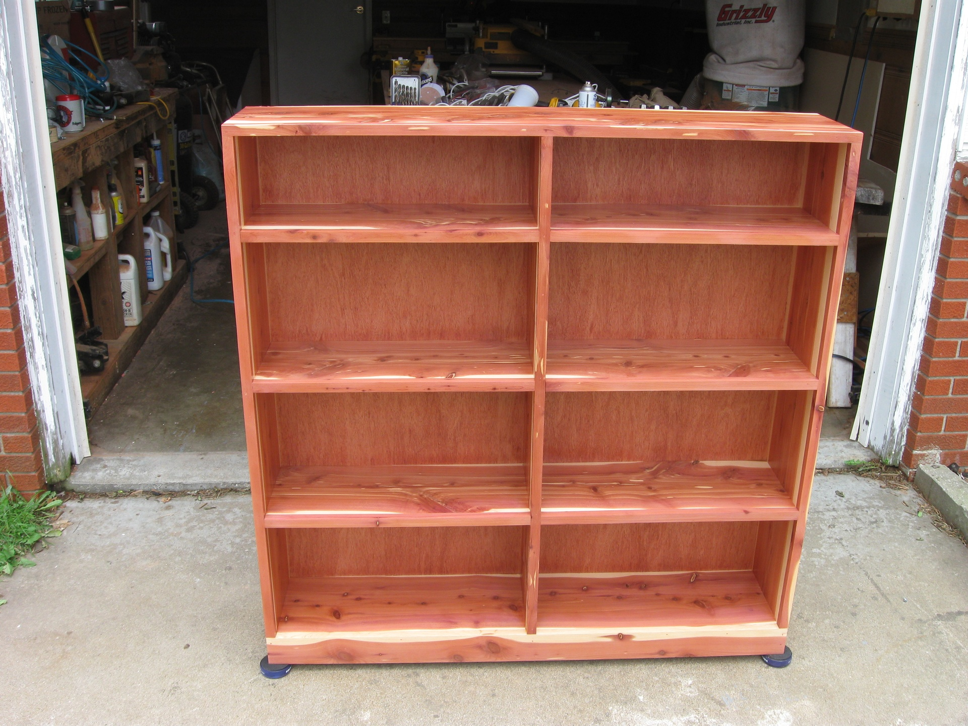 "Red Cedar Bookshelves  50"" x 50"""